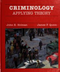 Cover of: Criminology | John E. Holman